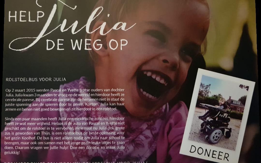 """Hogelandcup doneert aan """"Help Julia de weg op""""."""